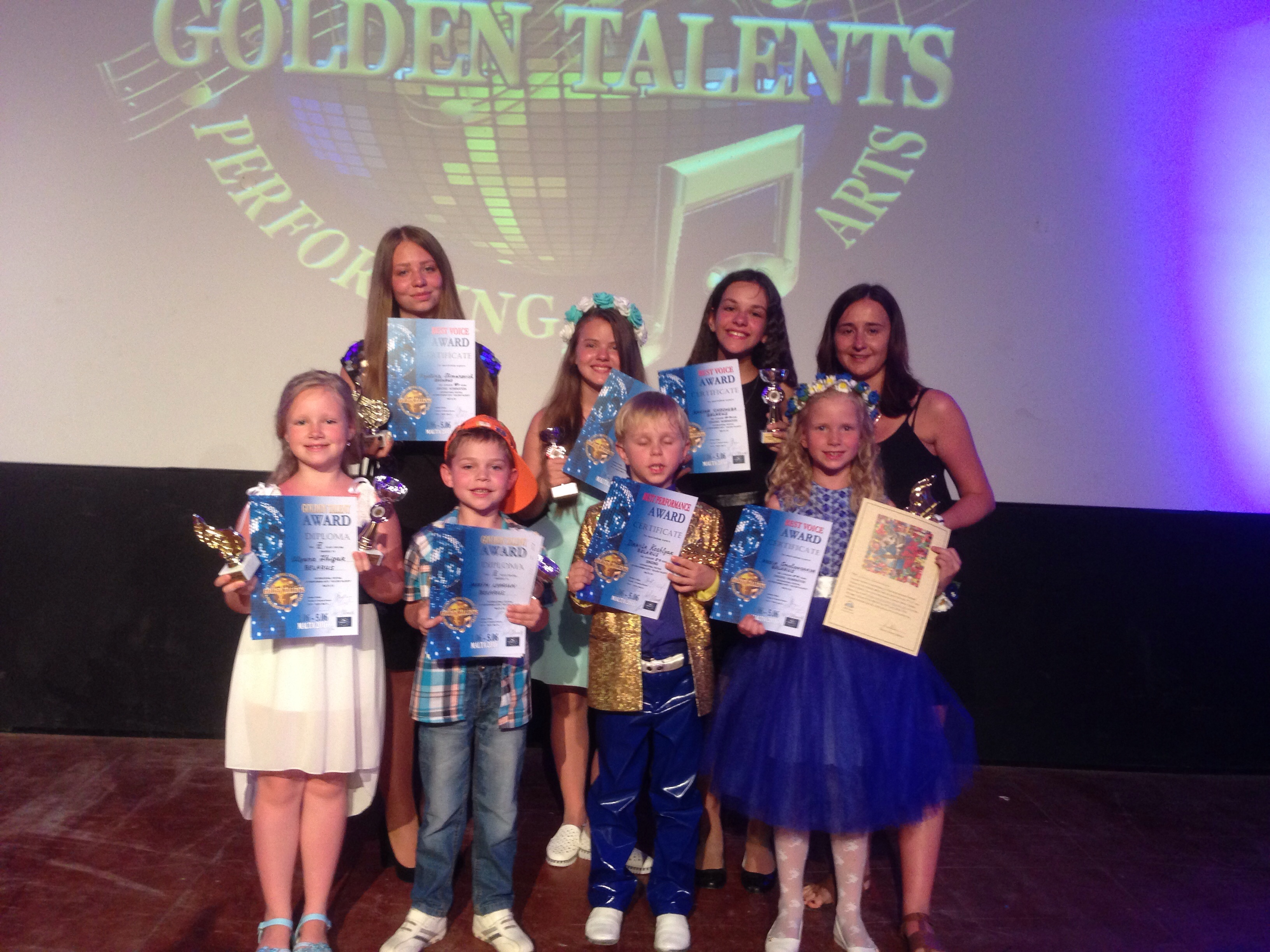 Конкурс Golden Talents -Malta 2016